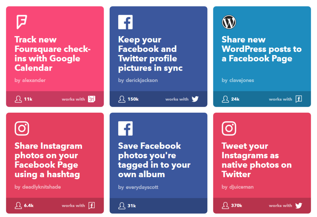 15-applets-for-social-media-collection-ifttt